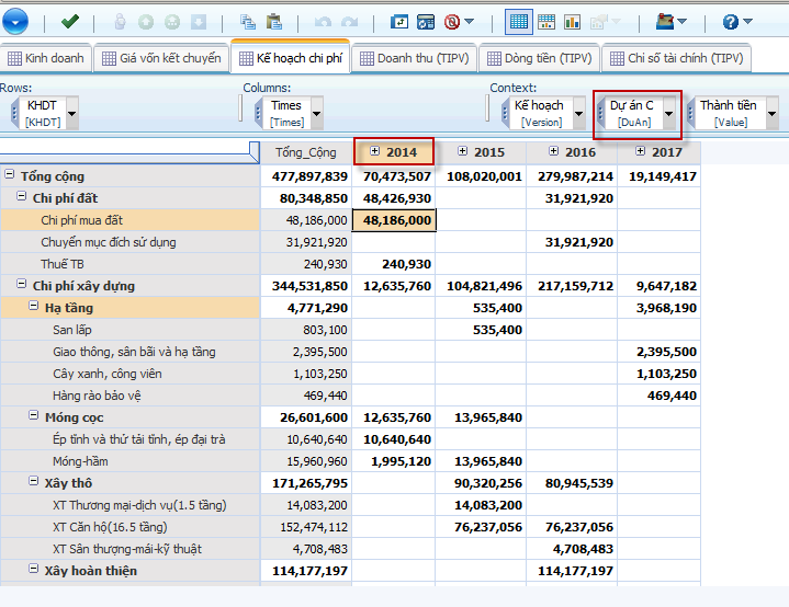 cognos tm1 - real estate - expenses management.png
