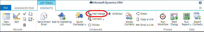 Dynamic CRM 2013 - Mail Merge - 03.png