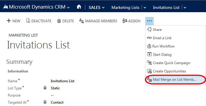 Dynamic CRM 2013 - Mail Merge - 04.png