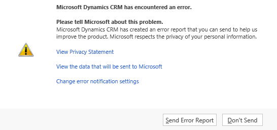 Dynamics CRM Disable Error Report 1.png