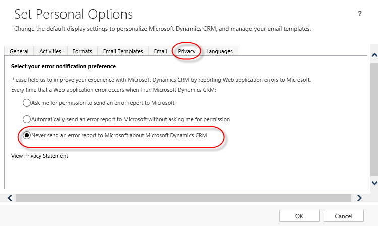 Dynamics CRM Disable Error Report 3.png